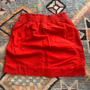 Orange J.Crew Factory Skirt